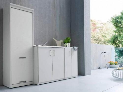 Mobili lavelli mobili in resina per balconi - Mobili per esterni in resina ...
